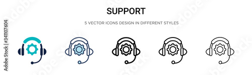 Cuadros en Lienzo Support icon in filled, thin line, outline and stroke style