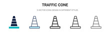 Traffic Cone Icon In Filled, T...