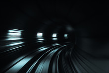 Blurred Motion Of Tunnel