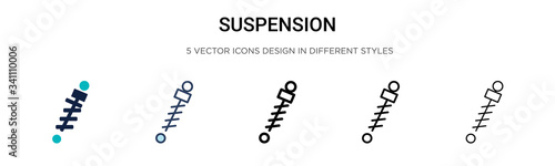 Fotografía Suspension icon in filled, thin line, outline and stroke style