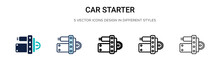 Car Starter Icon In Filled, Th...
