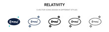 Relativity Icon In Filled, Thi...