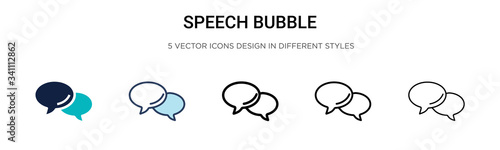 Photographie Speech bubble icon in filled, thin line, outline and stroke style