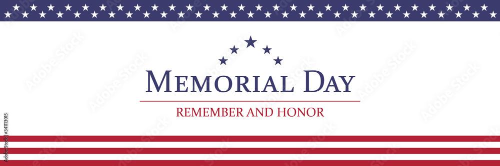 Fototapeta Memorial Day background vector illustration