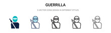 Guerrilla Icon In Filled, Thin...