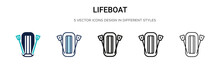 Lifeboat Icon In Filled, Thin ...