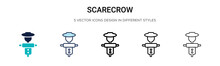 Scarecrow Icon In Filled, Thin...