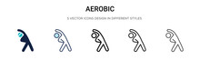 Aerobic Icon In Filled, Thin L...
