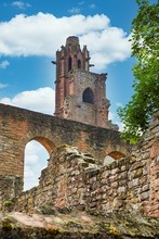 Ruin Of Limburg Monastery Under Blue Sky