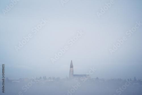 Valokuva Hallgrímskirkja In The Fog