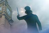 Fototapeta Londyn - Jack the Ripper in old London