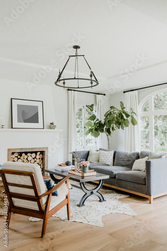 Simple living room Tableau sur Toile