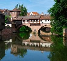 Am Henkersteg Und Henkerturm, Nürnberg, Mittelfranken, Bayern, Deutschland