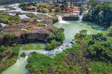 Royalty High Quality Free Stock Image Aerial View Of Dray Nur Waterfall, Buon Me Thuot, Vietnam. Dray Nur Waterfall Is One Of The Top 10 Waterfalls In Vietnam. Aerial View