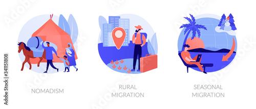 Fotografie, Obraz Temporary migration metaphors