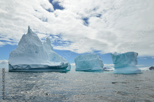 iceberg in antarctica aground near cost line Wallpaper Mural
