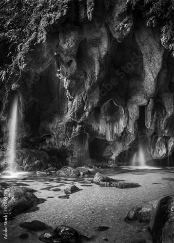 Sierra gorda de Queretaro, cascada y cueva puente de dios, México Canvas Print