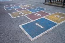 Painted Blacktop Playground Fl...