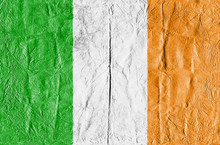Full Frame Shot Of Irish Flag