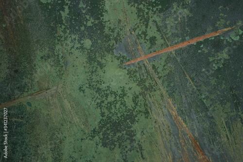 abstrakcyjna nieregularna tekstura z plamami w odcieniach zieleni i błękitu