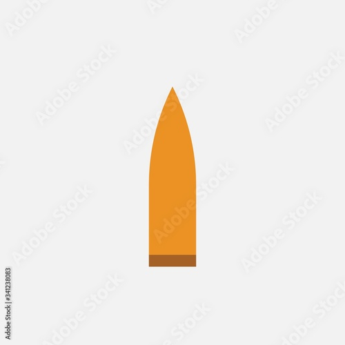 Photo bullet vector icon military weapon