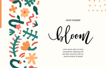 Contemporary Floral Template P...