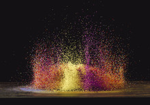 Multi Colored Particles
