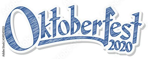 Fototapeta Header with text Oktoberfest 2020 obraz