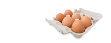 Carton Of Fresh Eggs Isolated ...