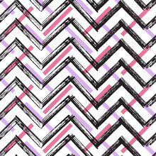 Chevron Zigzag Paint Brush Str...