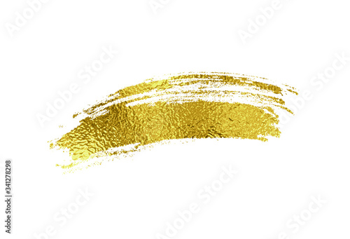 Gold foil brush stroke Canvas Print