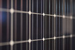cells solar panel in close up in selective focus