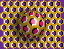 Ball Optical Illusion Clipart....