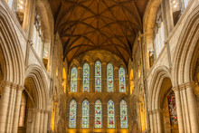 The Interior Of The West Front In Ripon Cathedral.