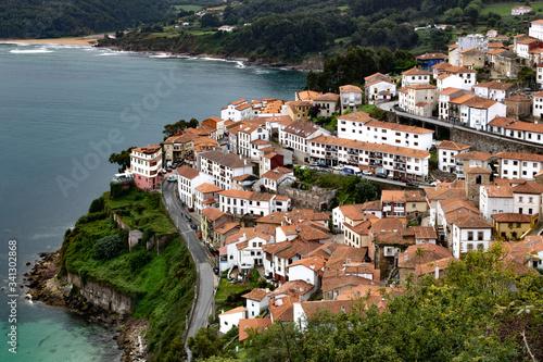 Lastres, pueblo costero de Asturias en España Canvas Print