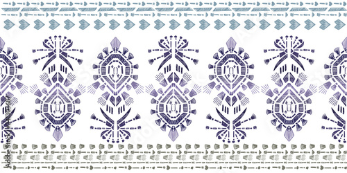 Abstract embroidery seamless ikat Wallpaper Mural