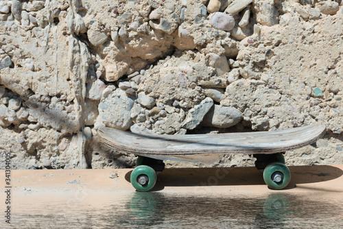 Summer old skateboard
