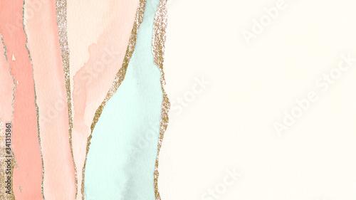 Obraz Pastel watercolor banner - fototapety do salonu
