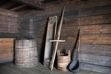 An Old Wooden Barrel, A Trough...