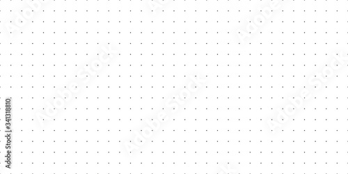 Fotografia Horizontal seamless vector black dots on white background