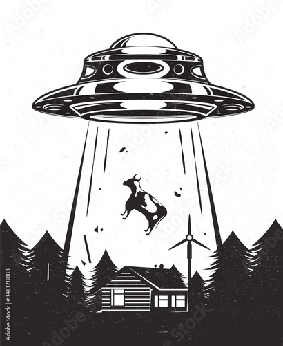 Photo UFO poster vintage