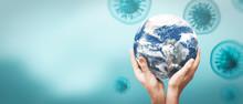 Viruses Around The Earth Globe...