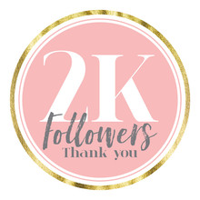 Thank You 2K Followers. Pink A...