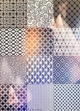 Full Frame Shot Of Designs On Tiled Floor