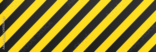 Fototapeta Yellow black background stripes.  Risk sign abstract pattern vector obraz