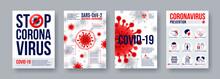 Coronavirus Poster Set With In...