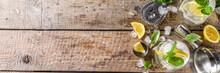 Boozy Lemon Basil Lemonade, Wi...