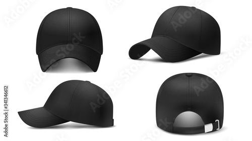 Papel de parede Black cap Mockup, realistic 3D