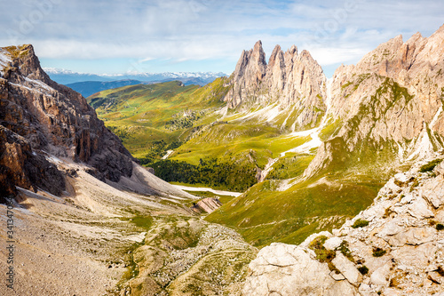 South Tyrol Alto Adige Furchetta mountain alpine landscape, Italy Canvas Print