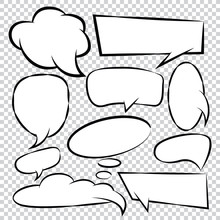 Comic -Bubble -Speech -Balloons -Speech- Cartoon -Speech Vector Set